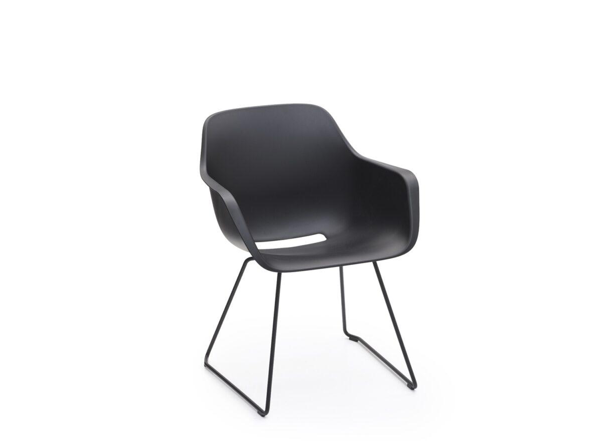 Captain's Sliding Chair zwart